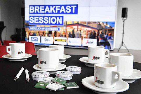 Frühstück Segafredo mit Breakfast Session Banner
